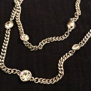 Givenchy silver and Swarovski Crystal necklace